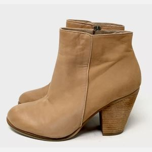 Vince Camuto Ankle Boots Tan Lambskin 9